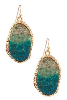 Carrie Ombre Druzy Drop Earrings