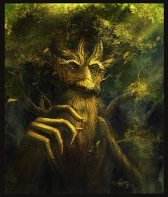 """Middle-earth: """"Treebeard,"""" by Suzanne-Helmigh. """"You must understand, young Hobbit, it takes a long time to say anything in Old Entish. And we never say anything unless it is worth taking a long time to say. Fantasy World, Fantasy Art, Fantasy Trees, Enchanted Tree, Image Nature, Kobold, O Hobbit, Images Gif, Nature Spirits"""