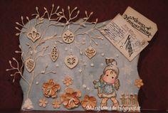 xmas card magnolia