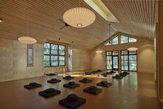 "My yoga novel ""Ashram"" draws on ancient wisdom and practice. Tassajara Zen Center Yoga Studio at dusk Yoga Studio Design, Yoga Studio Home, Yoga Studio Decor, Pilates Studio, Zen Center, Meditation Center, Meditation Space, Sala Yoga, Yoga Zen"