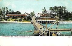 Narragansett Bay Rhode Island 1905 Crescent Park Hotel Pier Vintage Postcard - Moodys Vintage Postcards - 1