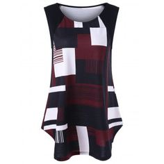 SHARE & Get it FREE   Geometric Plus Size Longline Tank TopFor Fashion Lovers only:80,000+ Items·FREE SHIPPING Join Dresslily: Get YOUR $50 NOW!