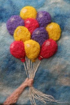 Tässä ompi sitten ensimmäinen neulahuovutettu taulu tehtynä Pinterestistä löydetyn ohjeen mukaan. Näin harjoittelumielessä.. Kokoa tällä on noin 19,5 cm x 27,5 cm. Crochet Necklace, Crochet Collar