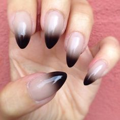The perfect pointed nail...not too long and not too short. Cute ombré too!