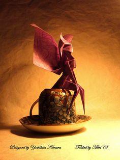 Fairy by Adri 79 Origami And Quilling, Oragami, Origami Paper, Diy Paper, Paper Art, Paper Crafts, Fun Crafts, Arts And Crafts, Origami Dragon