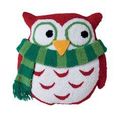 Owl 3D Hooked Throw Pillow