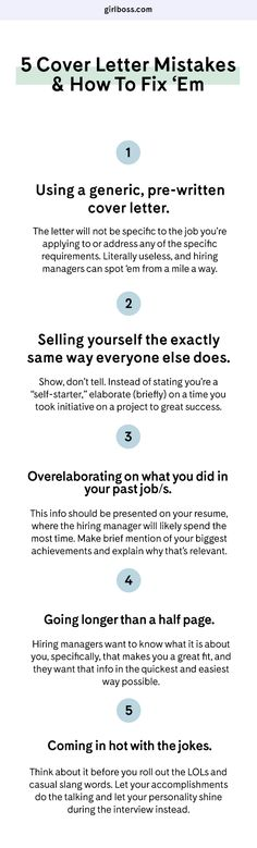 Four Quick Fixes to Make Your Cover Letter Stand Out Board - cover letter mistakes
