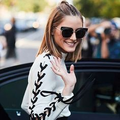 Simple tips to recreate OP's modern bun with a twist. #Milan #fashionweek