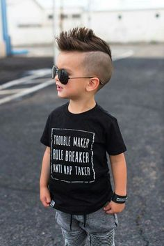 Boys Haircuts popular for cute kids, teens and little boys to look cool and trendy. From unqiue short and long boys hairstyles to cute black boys haircuts! Cute Toddler Boy Haircuts, Little Boy Haircuts, Toddler Boy Style, Trendy Boys Haircuts, Boy Haircuts Short, Edgy Haircuts, Boys Mohawk, Little Boy Mohawk, Short Hairstyles