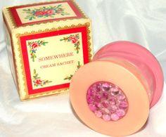 AvonS SACHETS | AVON Somewhere Cream Sachet Jar Original Box by RosePetalResources