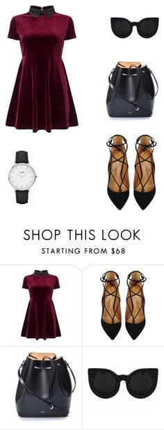 """""""Untitled #30"""" by janneth-glez on Polyvore featuring Miss Selfridge, Aquazzura, N°21, Delalle and CLUSE"""