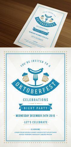 Oktoberfest Poster or Flyer by Vasya Kobelev on Creative Market