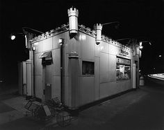 George Tice, White Castle, Route #1, Rahway, NJ, 1973, gelatin silver print