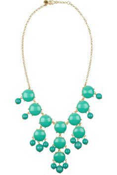 J.Crew|Bubble 18-karat gold-plated resin necklace