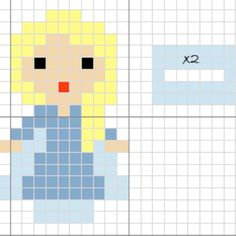 Queen Elsa Frozen perler pattern by sonmisdetalles
