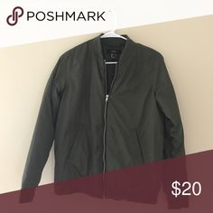 Dark green bomber jacket Dark green bomber jacket. Great condition! Smoke free pet free home. Forever 21 Jackets & Coats