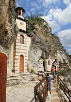 Basarbovski Rock Monastery near Ruse in northern Bulgaria.