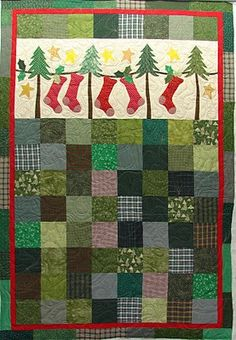 Christmas quilt.  I've got the book that this quilt appears in -- now just need to get it done BEFORE next Christmas. . .!!