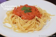 This creamy linguine recipe is so yummy and super easy. Check out the post for the full creamy linguine recipe.
