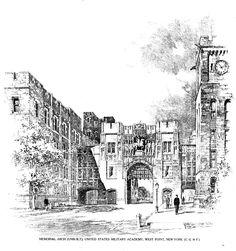 Bertram Grosvenor Goodhue, Architect (1869-1924)  A Memorial (Unbuilt), West Point Academy