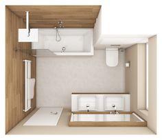 Moderní koupelna FIESTA - půdorys