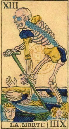 Death - Ancient Tarot of Liguria-Piedmont