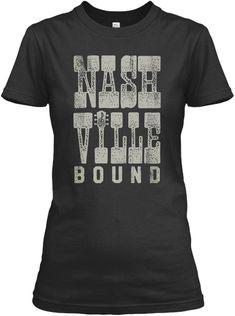 Heading For Nashville Black Women's T-Shirt Front