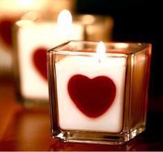 Свеча-валентинка | Свечка-сердечко своими руками