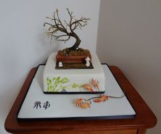 ZEN Autumn Bonsai - by FifiCakes @ CakesDecor.com - cake decorating website