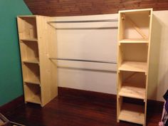My Free standing closet is finished! It's perfect for our small home with no storage space. #closetsolutions