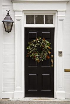 We've pulled together over 30 of the most popular front door paint colors that can really add beautiful curb appeal. Front Door Paint Colors, Painted Front Doors, Exterior Design, Interior And Exterior, Interior Doors, Exterior Paint, Interior Ideas, Black Front Doors, Entry Doors