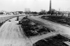 Work on the freeway entrance and the access from Hoddle Street in 1970s. The…