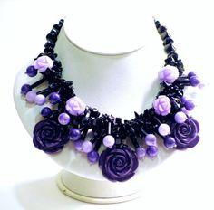 Semi-precious Stone Handwoven Necklace