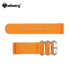 INFANTERIE 22mm Horloge Band Oranje Mode Sport Outdoor Duurzaam G10 Nylon…