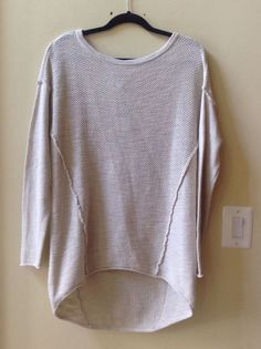 NWT MICHAEL STARS WOMEN'S NATURAL COLOR 100% COTTON LONG SLEEVE SWEATER SIZE M/L #MichaelStars #BoatNeck