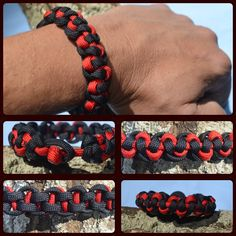The Rod of Asclepius pattern paracord bracelet inspired by JD Lenzen's Tying It All Together (TIAT)