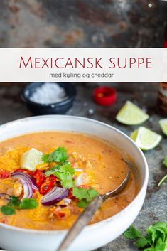 Mexican soup with chicken and cheddar – recipe for strong chicken soup - Suppe Sopa Detox, Mexican Food Recipes, Healthy Recipes, Food Crush, Comfort Food, Dinner Is Served, Recipes From Heaven, Everyday Food, I Love Food