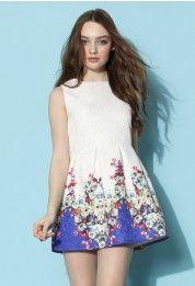 Growing Flowers Jacquard Dress