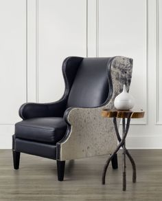 A touch of rustic warmth is perfect anywhere, anytime. Hooker Furniture + Bradington-Young leather chair.