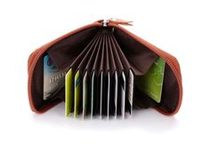 Zipper Closure Leather Wallet with RFID Technology