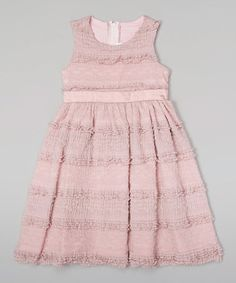 Loving this Pink Antique Lace A-Line Dress - Infant, Toddler & Girls on #zulily! #zulilyfinds