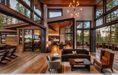 Home Design Modern rustic mountain home - Modern Mountain Homes to Take You Away Mode Modern Lodge, Modern Mountain Home, Mountain Homes, Modern Ranch, Modern Cabins, Mountain Living, Mountain Home Interiors, Tiny Cabins, Modern House Design