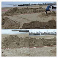 Sculpture sur sable sur la plage de Royan - BLOG LA GUILLAUMETTE -