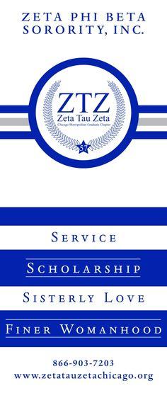 Zeta Phi Beta White Rose | ... banner for the zeta tau zeta chapter of zeta phi beta sorority inc