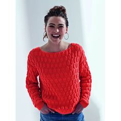 Mon pull relief orange au tricot - Knitting And Crocheting Knitting Stitches, Free Knitting, Knitting Patterns, Pull Crochet, Knit Crochet, Crochet Pattern, Crochet Clothes, Knitwear, Sweaters For Women