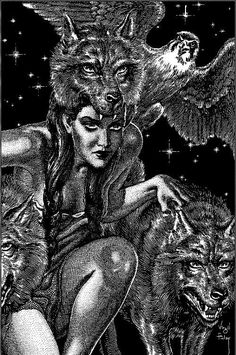 art of the beautiful-grotesque: The Art of Virgil Finlay: Part III. *EVIL ! That is what we see from the woman's eyes to the beasts and birds that surround her.
