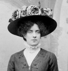 The fashion for these hats and the Pompadour hairstyle continued from the Victorian age into the Edwardian. They were worn high on the head and heavily decorated with fabric, feathers or imitation flowers or fruit.  As a general rule felt hats were worn in winter and straw hats in summer.  Lavish hat decoration did not continue into the second half of Edwardian times.  You should not see picture hats worn after the high necked blouse fell from favour.  As decoration decreased, width of hats…