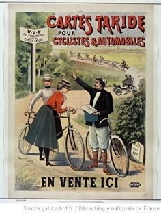 Cartes Taride pour cyclistes et automobiles  en vente ici  Taride cards for cyclists and automobiles...on sale here...no excursions without Taride cards  Raymond Tournon