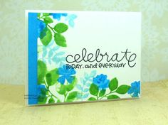 Snippets - beautiful watercolor card