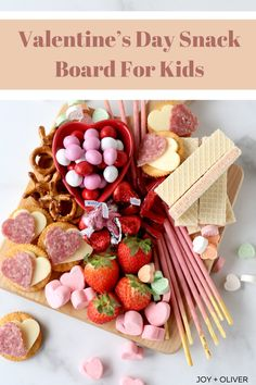 This Valentine's Day snack board for kids is the perfect way to celebrate the day with your kiddos! This board is the perfect color coordinated platter your kids will enjoy! #holiday #valentinesday #cheeseboard #dessert Valentines Day Dinner, Valentines Day Treats, Valentines Recipes, Chocolate Dipped Fruit, Chocolate Strawberries, Strawberry Snacks, Charcuterie Recipes, Board For Kids, Easy Homemade Recipes